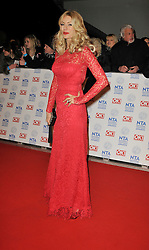 Tess Daly arrives At The annual National Television Awards 2013, The O2 Arena, Greenwich, London, UK, January 28, 2013. Photo by i-Images.