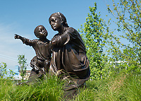 Black Brigade Statues at Smale Park