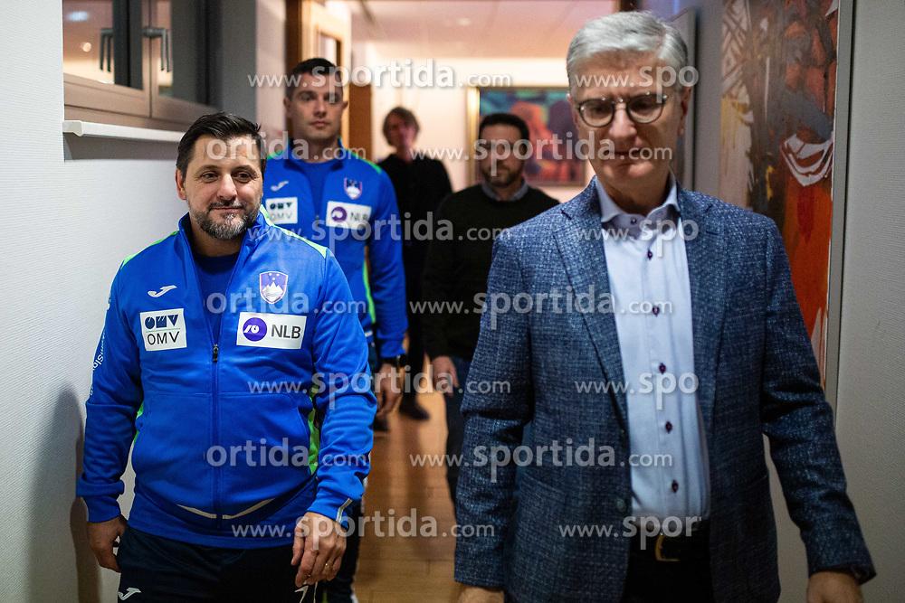 Ljubomir Vranjes head coach of Slovenian national team with Franjo Bobinac during media day of Slovenian national handball team on December 27, 2019 in Zrece, Slovenia. Photo By Grega Valancic / Sportida