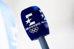 February 5, 2018 - Pyeongchang, SOUTH KOREA - 180205 A microphone of Eurosport is seen during a training session on February 5, 2018 in Pyeongchang..Photo: Jon Olav Nesvold / BILDBYRN / kod JE / 160136 (Credit Image: © Jon Olav Nesvold/Bildbyran via ZUMA Press)