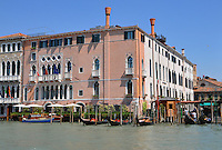 View across the Grand Canal to the Ca' Sagredo in Venice, Italy.