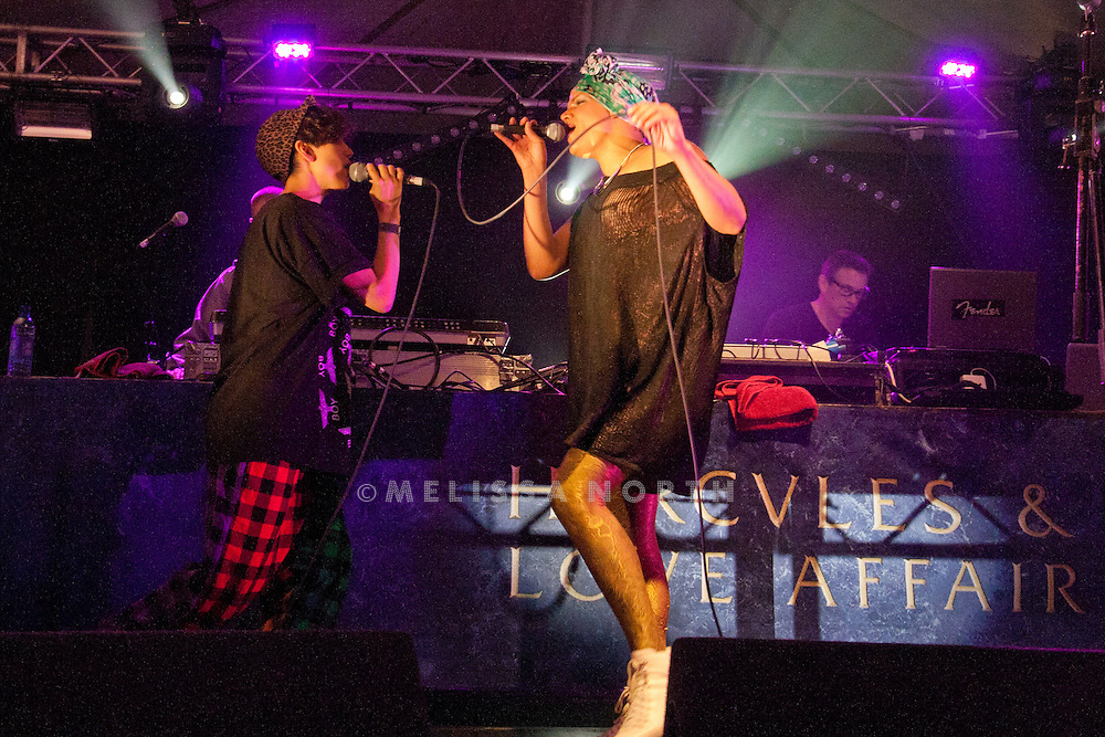 Hercules & Love Affair perform live on stage at Standon Calling, Herts, UK on 13 August 2011. JPH/B2779