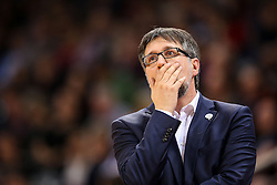 28.03.2016, Telekom Dome, Bonn, GER, Beko Basketball BL, Telekom Baskets Bonn vs FC Bayern Muenchen, 23. Runde, im Bild vl. Silvano Poropat (Trainer, Cheftrainer, Headcoach, Coach, Bonn, #CP) // during the Beko Basketball Bundes league 23th round match between Telekom Baskets Bonn and FC Bayern Munich at the Telekom Dome in Bonn, Germany on 2016/03/28. EXPA Pictures © 2016, PhotoCredit: EXPA/ Eibner-Pressefoto/ Fleig<br /> <br /> *****ATTENTION - OUT of GER*****