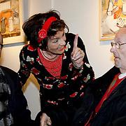 NLD/Laren/20100419 - Overhandiging boek John Kraaijkamp, Rim Sartori