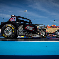 Nick Gardiner (1254) launching the Kaos Racing Fiat Topolino in Modified at the Perth Motorplex.