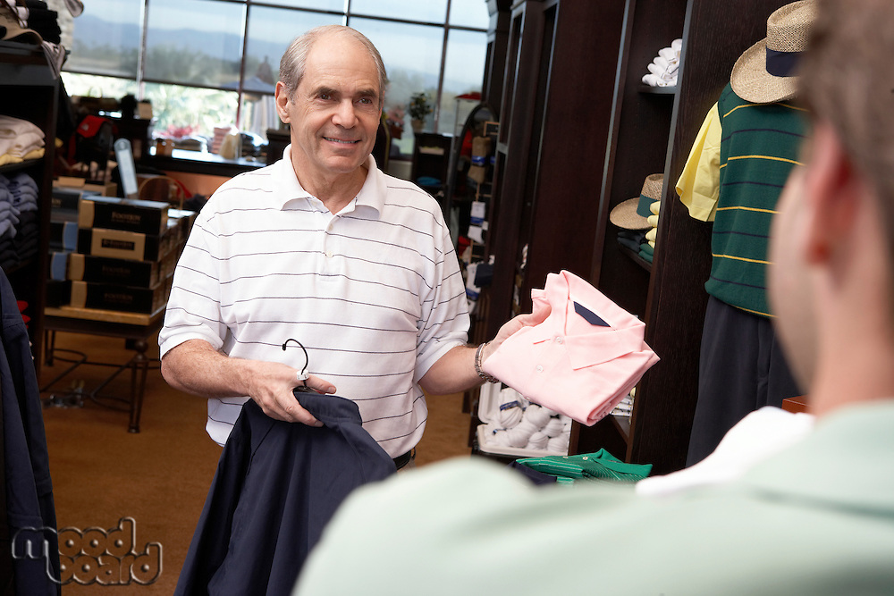 Man in a Golf Shop
