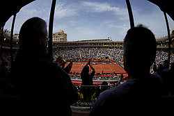 April 6, 2018 - Valencia, Valencia, Spain - General view of the match between David Ferrer of Spain and Alexander Zverev of Germany during day one of the Davis Cup World Group Quarter Finals match between Spain and Germany at Plaza de Toros de Valencia on April 6, 2018 in Valencia, Spain  (Credit Image: © David Aliaga/NurPhoto via ZUMA Press)