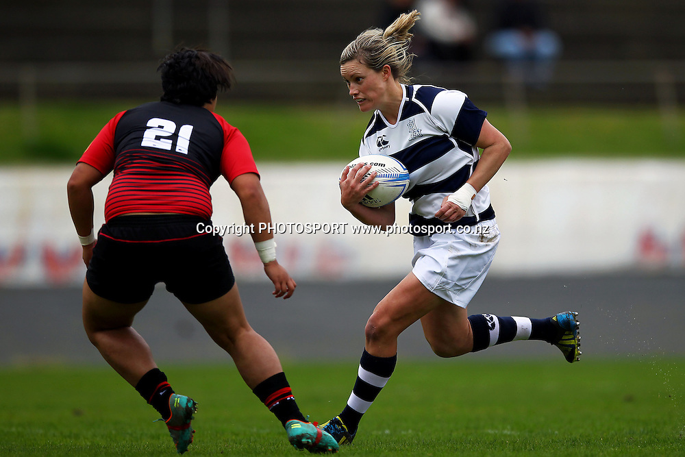 Auckland's Claire Richardson in action. 2013 Women's Provincial Championship, Auckland Storm v Canterbury at Western Springs,  Auckland, New Zealand. Saturday 7th September 2013. Photo: Anthony Au-Yeung / photosport.co.nz