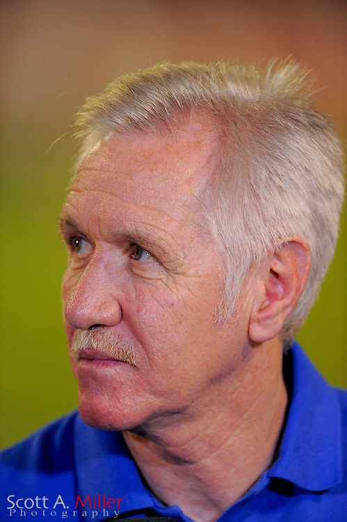 U.S. coach Tom Sermanni following his team's 4-1 win over Brazil in an international friendly at the Florida Citrus Bowl on Nov. 10, 2013 in Orlando, Florida. <br /> <br /> &copy;2013 Scott A. Miller