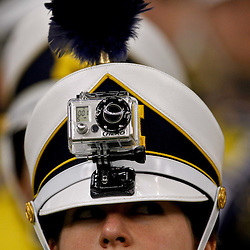 January 3, 2012; New Orleans, LA, USA; A Michigan Wolverines band memeber wears a gopro camera on her plume during the Sugar Bowl against the Virginia Tech Hokies at the Mercedes-Benz Superdome. Michigan defeated Virginia 23-20 in overtime. Mandatory Credit: Derick E. Hingle-US PRESSWIRE
