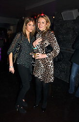 Left to right, VIOLET VON WESTENHOLTZ and JOSIE GOODBODY at a party to celebrate the opening of Kitts nightclub, 7-12 Sloane Square, London on 7th December 2006.<br /><br />NON EXCLUSIVE - WORLD RIGHTS