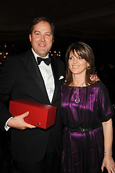 he HON.HARRY HERBERT and his wife at the 20th annual Cartier Racing Awards - the most prestigious award ceremony within European horseracing, held at The Dorchester Hotel, Park Lane, London on 16th November 2010.