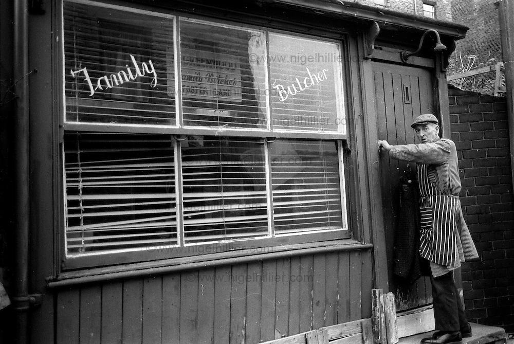 Greenwood Family butcher,Foster Lane Hebden Bridge, 1986