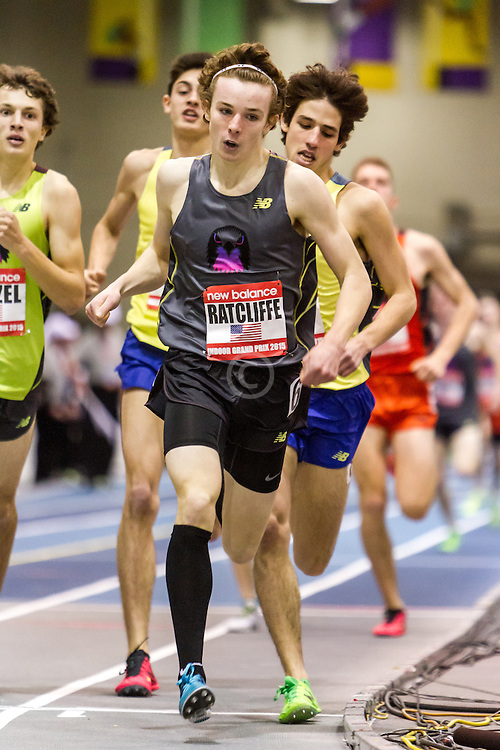 New Balance Indoor Grand Prix Track & FIeld:  Junior Boys Mile, Thomas Radcliffe