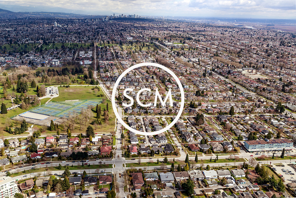 Aerial Photography of South Cambie St. Vancouver, British Columbia. East and West.