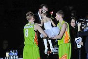 DESCRIZIONE : Eurolega Euroleague 2014/15 Gir.A Zalgiris Kaunas - Dinamo Banco di Sardegna Sassari<br /> GIOCATORE : Compleanno Arvydas Sabonis<br /> CATEGORIA : Spettacolo Dance Team<br /> SQUADRA : Zalgiris Kaunas<br /> EVENTO : Eurolega Euroleague 2014/2015<br /> GARA : Zalgiris Kaunas - Dinamo Banco di Sardegna Sassari<br /> DATA : 19/12/2014<br /> SPORT : Pallacanestro <br /> AUTORE : Agenzia Ciamillo-Castoria / Luigi Canu<br /> Galleria : Eurolega Euroleague 2014/2015<br /> Fotonotizia : Eurolega Euroleague 2014/15 Gir.A Zalgiris Kaunas - Dinamo Banco di Sardegna Sassari<br /> Predefinita :
