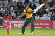 Alex Hales of Nottinghamshire Outlaws batting square cuts during the Vitality T20 Blast North Group match between Nottinghamshire County Cricket Club and Worcestershire County Cricket Club at Trent Bridge, West Bridgford, United Kingdon on 18 July 2019.