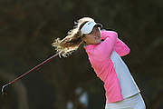CAPE TOWN, SOUTH AFRICA - Wednesday 8 March 2016, Dorthea Forbrigd tees off on the 2nd during the 1st Round of the Curro SA Juniors International at the Durbanville Golf Club. <br /> Photo by Shaun Roy/ImageSA
