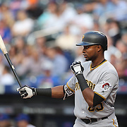 NEW YORK, NEW YORK - June 16: Gregory Polanco #25 of the Pittsburgh Pirates batting during the Pittsburgh Pirates Vs New York Mets regular season MLB game at Citi Field on June 16, 2016 in New York City. (Photo by Tim Clayton/Corbis via Getty Images)
