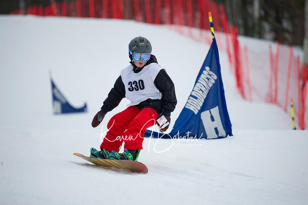 Snowboard Racing at Gunstock Mountain Resort. ©2017 Karen Bobotas Photographer