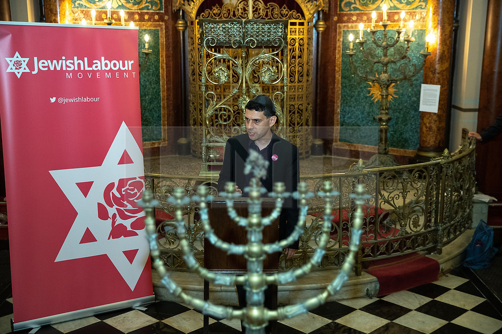 © Licensed to London News Pictures . 22/09/2019. Brighton, UK. ALEX SOBEL speaks at a fringe event by the Jewish Labour Movement at middle Street Brighton Synagogue, during the second day of the 2019 Labour Party Conference from the Brighton Centre . Photo credit: Joel Goodman/LNP