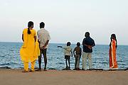 India, Tamil Nadu, pondicherry, People at leisure, on the beach