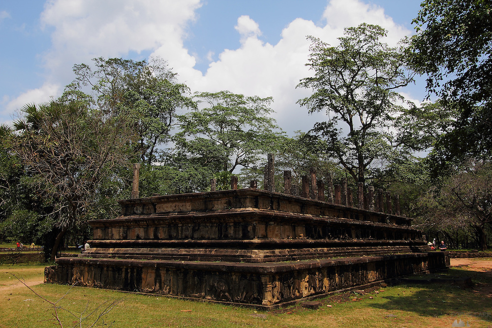 Temples in the ancient ruined city of Polunnaruwa in Sri Lanka's Cultural Triangle