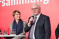 11 FEB 2017, BERLIN/GERMANY:<br /> Elke Buedenbender (L), Ehefrau von Steinmeier, und Frank-Walter Steinmeier (R), SPD, Kandidat fuer das Amt des Bundespraesidenten, waehrend einem Empfang der SPD anl. der Bundesversammlung, Westhafen Event und Convention Center<br />  IMAGE: 20170211-03-049<br /> KWYWORDS: Elke Büdenbender