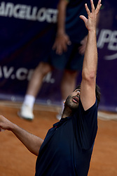 June 19, 2018 - L'Aquila, Italy - Benjamin Hassan during match between Benjamin Hassan (GER) and Agustin Velotti (ARG) during day 4 at the Internazionali di Tennis Citt dell'Aquila (ATP Challenger L'Aquila) in L'Aquila, Italy, on June 19, 2018. (Credit Image: © Manuel Romano/NurPhoto via ZUMA Press)