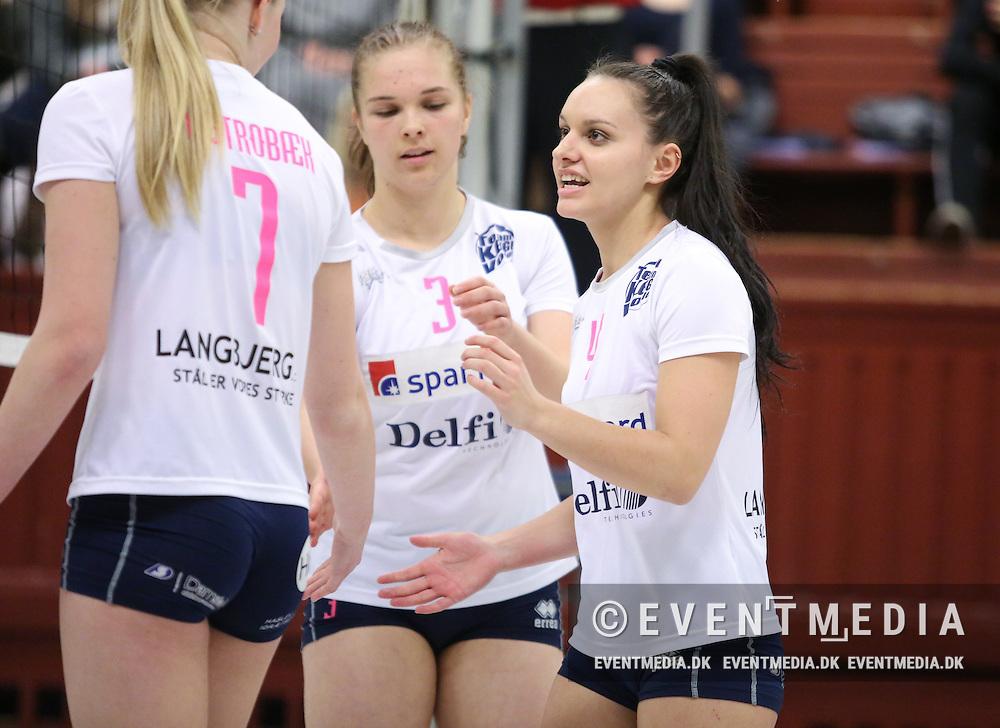 Kamp i Volleyligaen Damer mellem Elite Volley Aarhus og Team Køge, 16.1.2016 i Aarhus Gl. Stadionhal. (Allan Jensen/EVENTMEDIA).