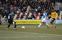 Cristian Montano of Bristol Rovers shoots at goal. - Mandatory byline: Alex James/JMP - 19/03/2016 - FOOTBALL - Rodney Parade - Newport, England - Newport County v Bristol Rovers - Sky Bet League Two