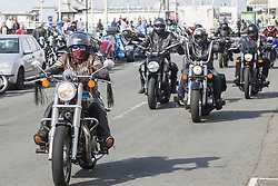 September 10, 2017 - Brighton, East Sussex, United Kingdom - Brighton, UK. Thousands of bikers from across Europe take part in the 24th annual Ace Cafe Reunion's Brighton Burn Up ride from the London Ace Cafe to Brighton Madeira Drive. (Credit Image: © Hugo Michiels/London News Pictures via ZUMA Wire)