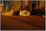 Bea Ahbeck/Fremont Argus<br /> <br /> Night commuters sleep on the streets of Gulu, Northern Uganda Friday, October 28, 2005. Thousands of children make the commute every night from surrounding villages to avoid being abducted by the Lord's Resistance Army and turned into child soldiers or sex slaves. Joseph Kony's rebel army have abducted over 20,000 children in the last 18 years of war.
