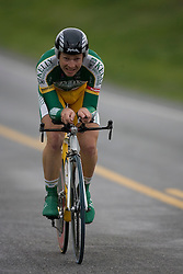 Jonny Sundt (KBS) during stage 1 of the Tour of Virginia.  The Tour of Virginia began with a 4.7 mile individual time trial near Natural Bridge, VA on April 24, 2007. Formerly known as the Tour of Shenandoah, the ToV has gained National Race Calendar (NRC) status for the first time in its five year history.