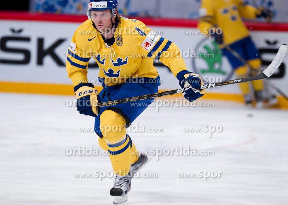 15.05.2012, Ericsson Globe, Stockholm, SWE, IIHF, Eishockey WM, Schweden (SWE) vs Lettland (LVL), im Bild Sverige Sweden 4 Staffan Kronwall (Severstal Cherepovets) // during the IIHF Icehockey World Championship Game between Schweden (SWE) vs Latvia (LVL) at the Ericsson Globe, Stockholm, Sweden on 2012/05/15. EXPA Pictures © 2012, PhotoCredit: EXPA/ PicAgency Skycam..***** ATTENTION - OUT OF SWE *****