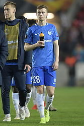 February 14, 2019 - Prague, CZECH REPUBLIC - Genk's Bryan Heynen pictured after a soccer game between Czech club SK Slavia Praha and Belgian team KRC Genk, the first leg of the 1/16 finals (round of 32) in the Europa League competition, Thursday 14 February 2019 in Prague, Czech Republic. BELGA PHOTO YORICK JANSENS (Credit Image: © Yorick Jansens/Belga via ZUMA Press)