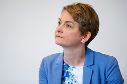 © Licensed to London News Pictures. 15/06/2015. London, UK. Labour leadership candidate YVETTE COOPER delivering a speech in central London on Monday, June 15, 2015. Photo credit: Tolga Akmen/LNP