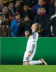 24.04.2012, Stadion Camp Nou, Barcelona, ESP, UEFA CL, Halblfinal-Rueckspiel, FC Barcelona (ESP) vs FC Chelsea (ENG), im Bild Chelsea's Fernando Torres celebrates scoring the second goal against FC Barcelona, levelling the scores at 2-2 on the night and sending Chelsea to the final on aggregate 3-2 during the UEFA Championsleague Halffinal 2st Leg Match, between FC Barcelona (ESP) and FC Chelsea (ENG), at the Camp Nou Stadium, Barcelona, Spain on 2012/04/24. EXPA Pictures © 2012, PhotoCredit: EXPA/ Propagandaphoto/ David Rawcliff..***** ATTENTION - OUT OF ENG, GBR, UK *****
