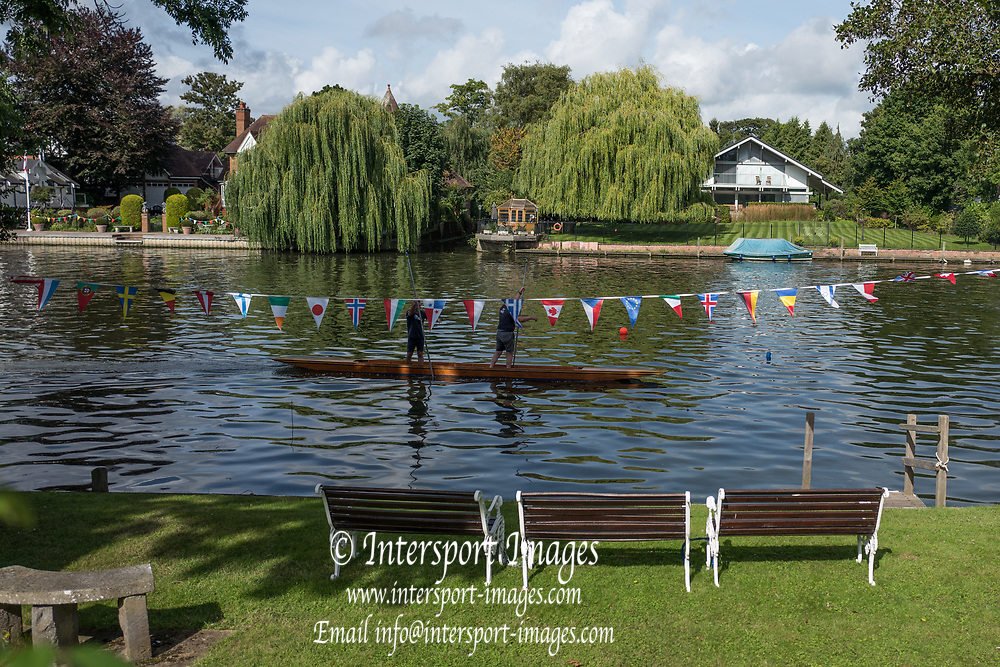 "Maidenhead, United Kingdom. ""Pre Racing Practice"", Double.  ""Thames Punting Club Regatta"", Bray Reach.<br />