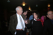 Michael Frayn and Claire Tomalin. Opening night of Embers, Duke of York's theatre. St. Martin's Lane. London. 1 March 2006. ONE TIME USE ONLY - DO NOT ARCHIVE  © Copyright Photograph by Dafydd Jones 66 Stockwell Park Rd. London SW9 0DA Tel 020 7733 0108 www.dafjones.com