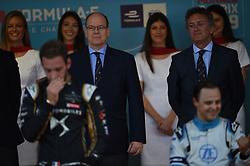 May 11, 2019 - Monaco, Monaco - His Most Serene Highness Prince Albert of Monaco on podium Cerimony of the 3rd edition of Monaco E-Prix, in port neighborhood in Monaco, France  (Credit Image: © Andrea Diodato/NurPhoto via ZUMA Press)