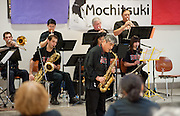 The Minidoka Swing Band performs on the Community Stage at Mochitsuki 2009, Amo DeBernardis College Center, Portland Community College/Sylvania campus, Portland, Oregon