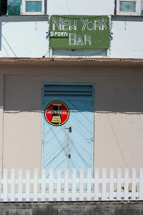 colorful facade of bar in Admiralty Bay Bequia West Indies