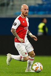 October 4, 2018 - Saint Petersburg, Russia - Miroslav Stoch of SK Slavia Prague in action during the Group C match of the UEFA Europa League between FC Zenit Saint Petersburg and SK Sparta Prague at Saint Petersburg Stadium on October 4, 2018 in Saint Petersburg, Russia. (Credit Image: © Mike Kireev/NurPhoto/ZUMA Press)