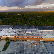 Demolition underway of Metcalf South Shopping Mall in Overland Park, Kansas, May 2017.