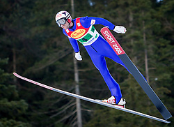 14.12.2013, Nordische Arena, Ramsau, AUT, FIS Nordische Kombination Weltcup, Skisprung, Wettkampfdurchgang, im Bild Mario Stecher (AUT) // Mario Stecher (AUT) during Ski Jumping of FIS Nordic Combined World Cup, at the Nordic Arena in Ramsau, Austria on 2013/12/14. EXPA Pictures © 2013, EXPA/ JFK