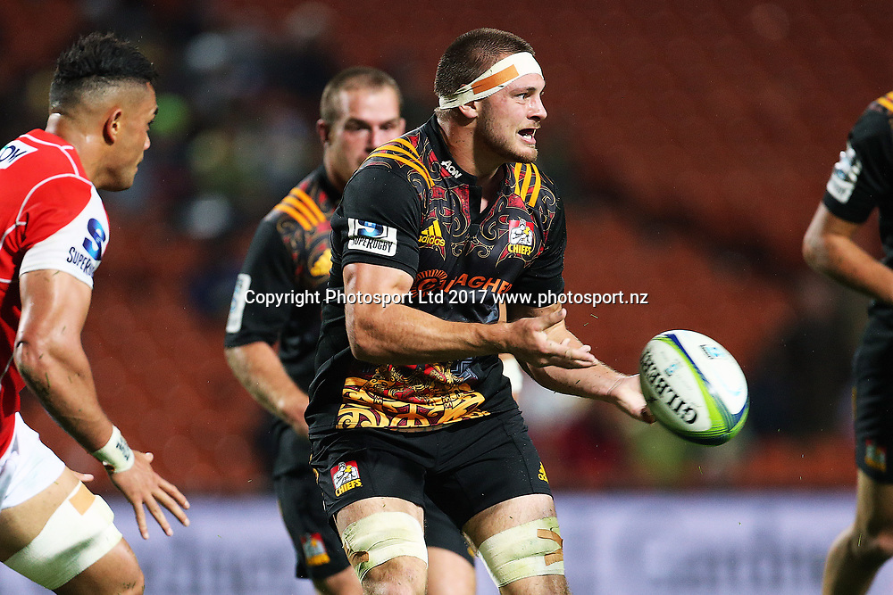 Chiefs reserve Mitchell Brown during the Super Rugby rugby match - Chiefs v Sunwolves played at FMG Stadium Waikato, Hamilton, New Zealand on Saturday 29 April 2017.  Copyright photo: Bruce Lim / www.photosport.nz