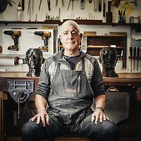 Max McCance, sculptor of technorganic furniture at his studio in Kinloch, Fife<br /> &copy;Damian Shields/Visit Scotland