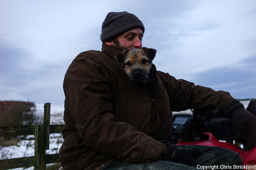 Shepherd and hunt follower Seth finds various ways of staying warm as the winter freeze continues.