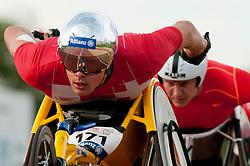 Marcel Hug T54, David Weir T54 SUI, GBR at 2014 IPC Athletics Grandprix, Nottwil, Switzerland